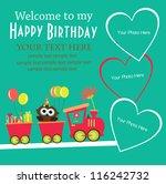 kid invitation card design.... | Shutterstock .eps vector #116242732