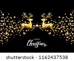 christmas golden  decoration... | Shutterstock .eps vector #1162437538