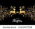 christmas golden  decoration... | Shutterstock .eps vector #1162437538
