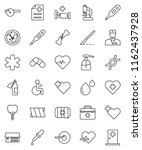 thin line vector icon set  ...   Shutterstock .eps vector #1162437928