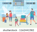 characters in airport terminal. ... | Shutterstock .eps vector #1162441582