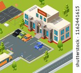 exterior of school. territory... | Shutterstock .eps vector #1162441615