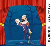 actor man medieval suit tragic...   Shutterstock .eps vector #1162444528