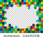 puzzles background with free... | Shutterstock .eps vector #1162452538