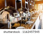catering buffet food with...   Shutterstock . vector #1162457545