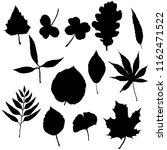 vector set of black silhouette...   Shutterstock .eps vector #1162471522