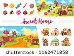 flat sweets colorful collection ... | Shutterstock .eps vector #1162471858