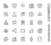 collection of 25 social outline ... | Shutterstock .eps vector #1162480012