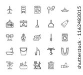 collection of 25 clean outline... | Shutterstock .eps vector #1162483015