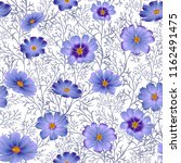 seamless floral background with ... | Shutterstock .eps vector #1162491475