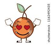 kawaii love delicious orange... | Shutterstock .eps vector #1162492435
