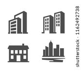 building and real estate icons | Shutterstock .eps vector #1162492738