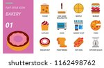 flat style icon pack for bakey  ... | Shutterstock .eps vector #1162498762