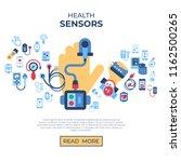 digital vector health sensor... | Shutterstock .eps vector #1162500265