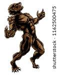 scary werewolf wolf creature... | Shutterstock .eps vector #1162500475