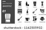 solid style icon pack for... | Shutterstock .eps vector #1162505932
