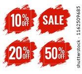 sale red blobs banner   Shutterstock . vector #1162509685