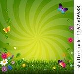 flowers and grass    Shutterstock . vector #1162509688