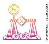 degraded line caution barrer... | Shutterstock .eps vector #1162510555