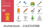 flat style icon pack for bakery ... | Shutterstock .eps vector #1162510588