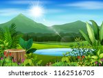 landscape views of mountains in ... | Shutterstock .eps vector #1162516705