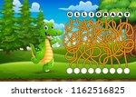 game alligator maze find way to ... | Shutterstock .eps vector #1162516825