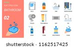 flat style icon pack for... | Shutterstock .eps vector #1162517425