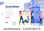 Flat Design  Web Page Template...