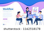 flat design  web page template... | Shutterstock .eps vector #1162518178