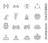 people icons line work group... | Shutterstock .eps vector #1162518862