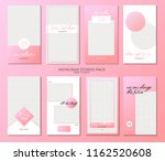 set of minimalistic stories for ... | Shutterstock .eps vector #1162520608