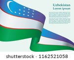 flag of uzbekistan  republic of ... | Shutterstock .eps vector #1162521058