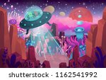 fantasy landscape with a cave... | Shutterstock .eps vector #1162541992