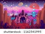 fantasy landscape with a cave...   Shutterstock .eps vector #1162541995