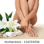spa beautiful woman isolated on ... | Shutterstock . vector #116254336