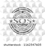sos retro style grey emblem... | Shutterstock .eps vector #1162547605