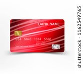realistic detailed credit card. ... | Shutterstock .eps vector #1162549765