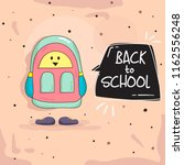 back to school background with... | Shutterstock .eps vector #1162556248