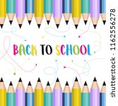 back to school background with... | Shutterstock .eps vector #1162556278