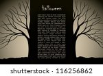 halloween background vector... | Shutterstock .eps vector #116256862