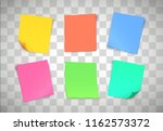multicolor paper notes on... | Shutterstock .eps vector #1162573372
