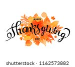 happy thanksgiving day poster.... | Shutterstock .eps vector #1162573882
