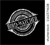 bird watcher chalk emblem... | Shutterstock .eps vector #1162574638