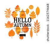 watercolor autumn foliage... | Shutterstock .eps vector #1162574668