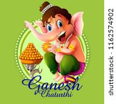 happy ganesh chaturthi festival ... | Shutterstock .eps vector #1162574902