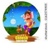 happy ganesh chaturthi festival ... | Shutterstock .eps vector #1162574905