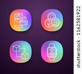e payment app icons set. nfc...