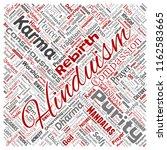 vector conceptual hinduism ... | Shutterstock .eps vector #1162583665