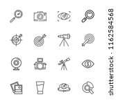 collection of 16 focus outline... | Shutterstock .eps vector #1162584568