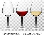 set transparent vector wine... | Shutterstock .eps vector #1162589782